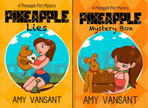 """Book Cover for """"Pineapple Lies"""" by Amy Vansant"""